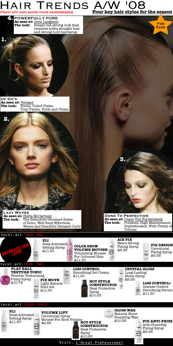 <Hairstyles Autumn Winter 2008 by L'Oreal Professionnel tecnhi Art team>