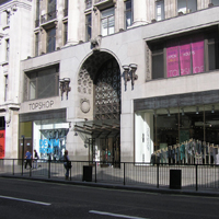 Front of the Topshop Store where J Brand Jeans will be sold