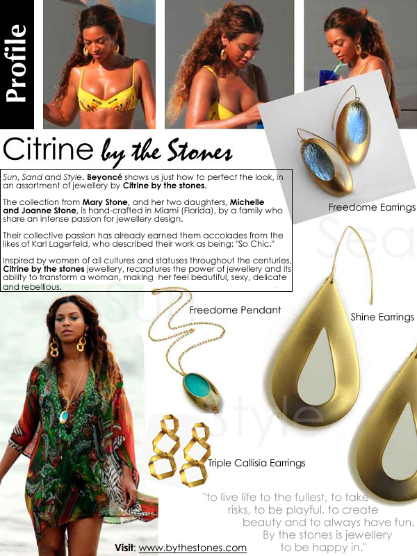 <Beyonce Wearing Citrine by the Stones Jewellery>