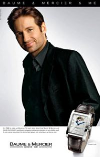 X-Files actor David Duchovny featured in Baume & Mercier & Me's latest advertising campaign