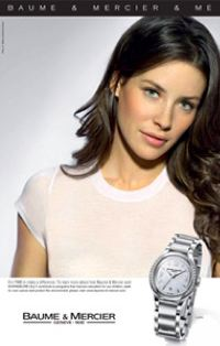 Lost actress Evangeline Lilly featured in Baume & Mercier & Me's latest advertising campaign