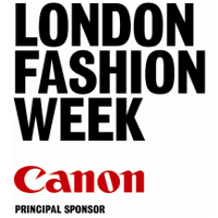 London Fashion Week logo Used to announce the new location of September's forthcoming London Fashion Week