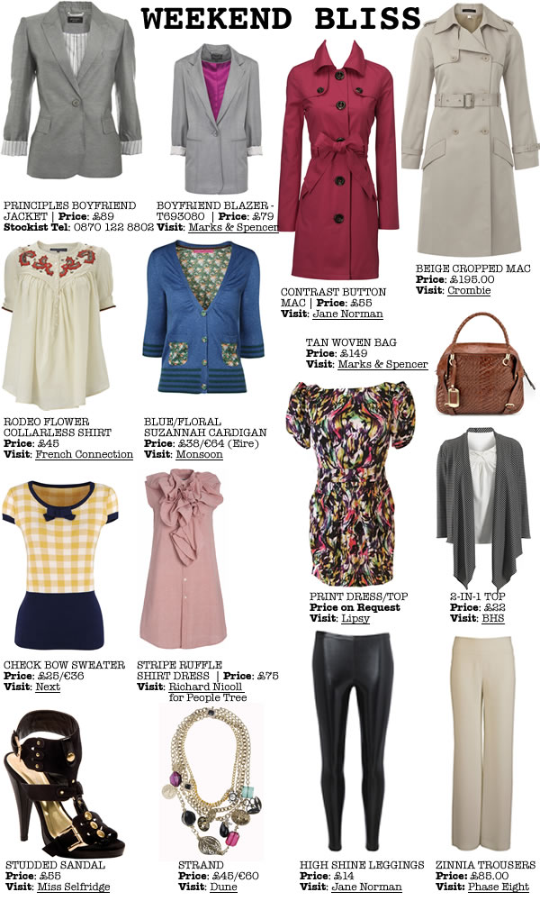 <Lots of Separates and Trenches for the Weekend from Phase Eight, Bhs, Lipsy, People Tree, Next, Monsoon, Principles Marks & Spencer, Crombie>