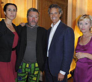 Jasmine Abdellatif, Philippe Starck, Alessandro Benetton and Tina Brown Photo SGP