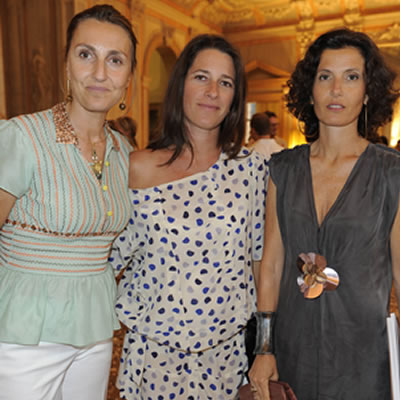 Francesca Malgara, Vittoria Marzotto and  Osanna Visconti di Modrone Photo SGP