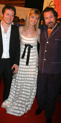Anne Consigny (wearing jewels by Van Cleef & Arpels), Mathieu Amalric and Julian Schnabel at Cannes Film Festival