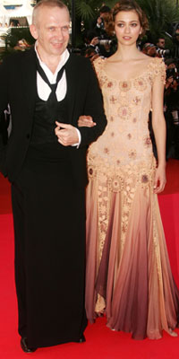 Morgane Dubled and Jean Paul Gautier attend the premiere for the film Ocean's Thirteen