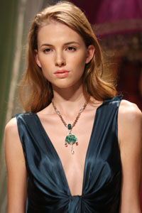 Cartier Model wearing piece from newly launched Inde Mysterieuse