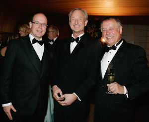 rince Albert of Monaco (L),  Managing director Montblanc International Lutz Bethge (C) and Wolff Heinrichsdorff