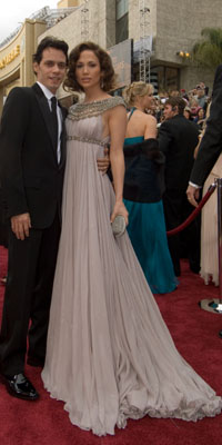 Jennifer Lopez and Marc Anthony arrive at the 79th Annual Academy Awards at the Kodak Theatre in Hollywood