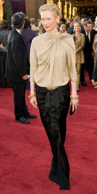 Tilda Swinton attends the 81st Annual Academy Awards® Dress by:  Jon Didier / ©A.M.P.A.S.